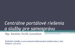Prednáška- PDF - portal.eGov.sk