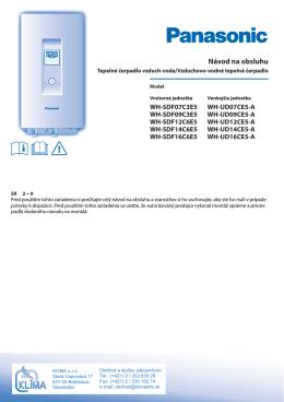 Návod na obsluhu - Panasonic Aquarea