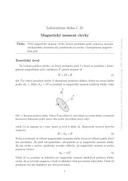 Laboratórna úloha č. 25 Magnetický moment cievky
