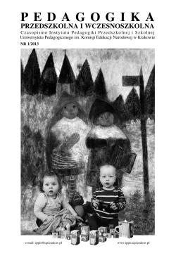 Untitled - Pedagogika Przedszkolna i Wczesnoszkolna