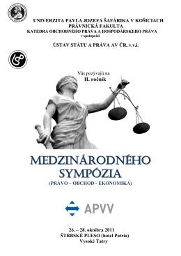MEDZINÁRODNÉHO SYMPÓZIA - Ústav státu a práva AV ČR
