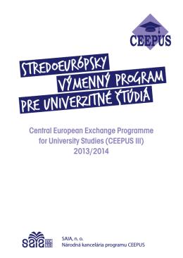 Informačná brožúra z akademického roku 2013/2014