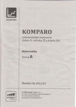 Komparo 9 - 2011/2012