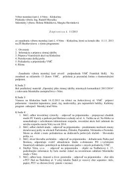 Zápisnica z 11.11.2013 - Čajkovského 13,15,17,19