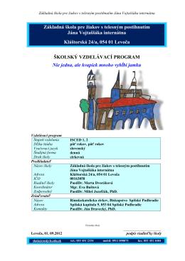 Školský vzdelávací program 2012/2013