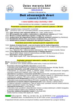 pozvánke - Ústav merania SAV