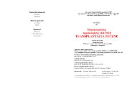 Monotematický deň 2010 - Slovenská hepatologická spoločnosť
