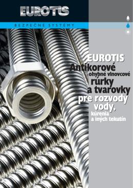 rúrky Antikorové a tvarovky EUROTIS pre rozvody vody, pre rozvody