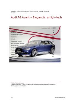 artid=36;Audi A6 Avant – Elegancia a high