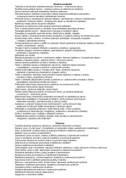 Studené predjedlá - KastielMosovce.sk