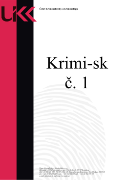 Ústav kriminalistiky a kriminológie