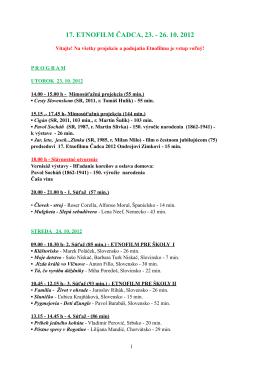 Etnofilm 2012 program