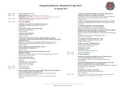 """Program konference """"Bezpečná Evropa 2013"""""""