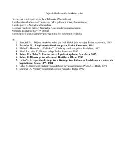 Pojustiniánske osudy rímskeho práva Stredoveké rímskoprávne