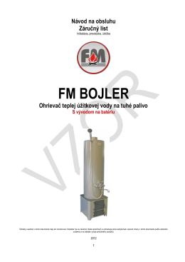 FM Bojler 90l s vývodom na zmiešavaciu batériu - PS