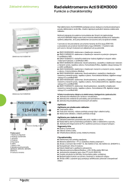 Rad elektromerov Acti 9 iEM3000