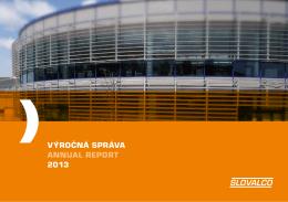 VÝROČNÁ SPRÁVA ANNUAL REPORT 2013