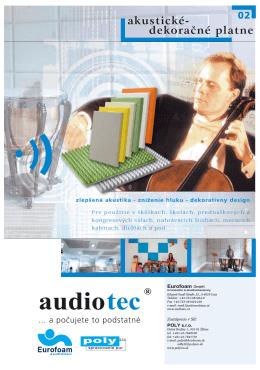 Akustické dekoračné platne