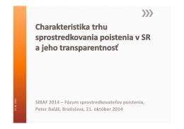 SIBAF 2014 – Fórum sprostredkovateľov poistenia, Peter Baláž