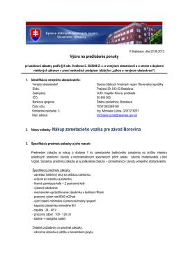 Nákup zametacieho vozíka pre závod Borovina