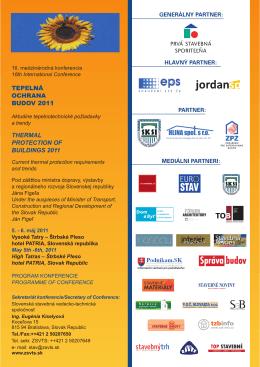 program konferencie - Ministerstvo dopravy, výstavby a