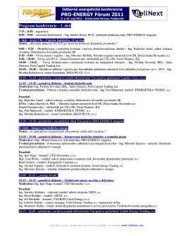 PRO-ENERGY_FORUM_2011_program