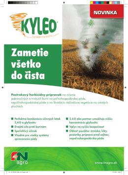 Zametie všetko do čista - F&N Agro Slovensko spol. s ro