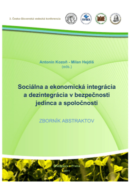 Sociálna a ekonomická integrácia a dezintegrácia v