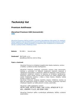 Technický list - MK FLUID, sro