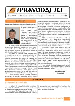 spravodaj scs 2/2011 - Slovenská cestná spoločnosť
