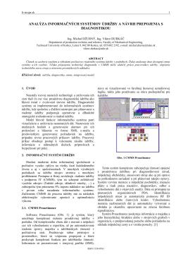analýza informačných systémov údržby a návrh - it