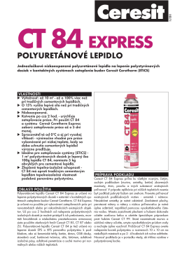 Technický list - Ceresit CT 84 EXPRESS