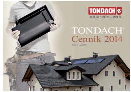 Tondach cenník 2014 Stavebniny Stamix