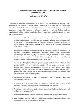 Hlavné ciele činnosti predmetovej komisie PED.docx