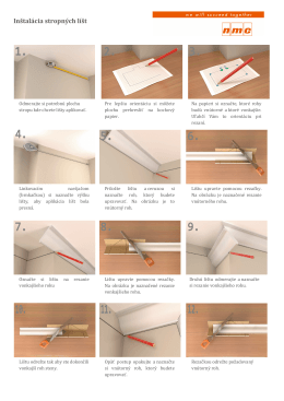 Inštalácia stropných líšt