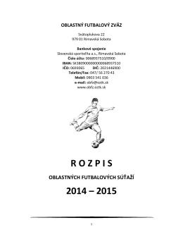 """B"" – ROČNÍK 2014/2015"