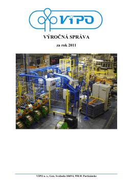 Výročná správa 2011 - Vipo a.s., Partizánske