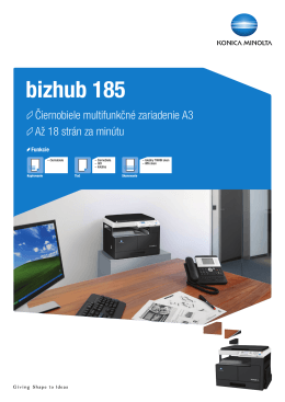 Prospekt k bizhub 185, PDF