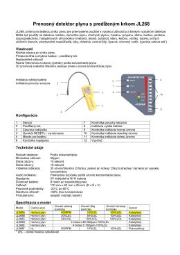 Prenosný detektor plynu s predĺženým krkom JL268
