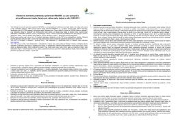 1 Všeobecné obchodné podmienky spoločnosti ENAGRO, a.s. pre