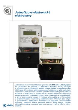 Jednofázové elektronické elektromery