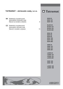 TATRAMAT - ohrievaţe vody, s.r.o.