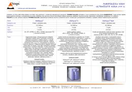 PURIFIKÁCIA VODY ULTRAČISTÁ VODA (TYP I)