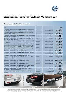 Originálne ťažné zariadenie Volkswagen