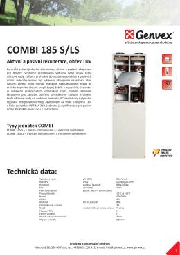 COMBI 185 S/LS Aktivní a pasivní rekuperace, ohřev TUV