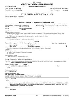 List vlastníctva č.1978
