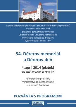54. Dérerov memoriál a Dérerov deň