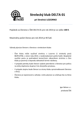 Strelecký klub DELTA 01