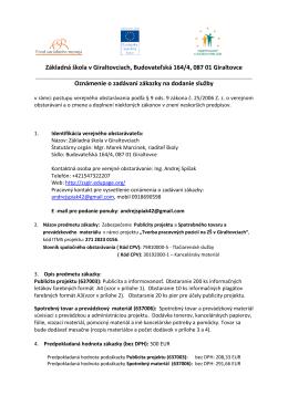 Základná škola Polianska 1, 040 01 Košice
