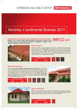 Novinky v sortimente Bramac 2011